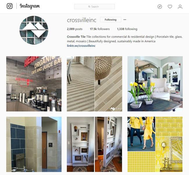how crossville tile uses social media