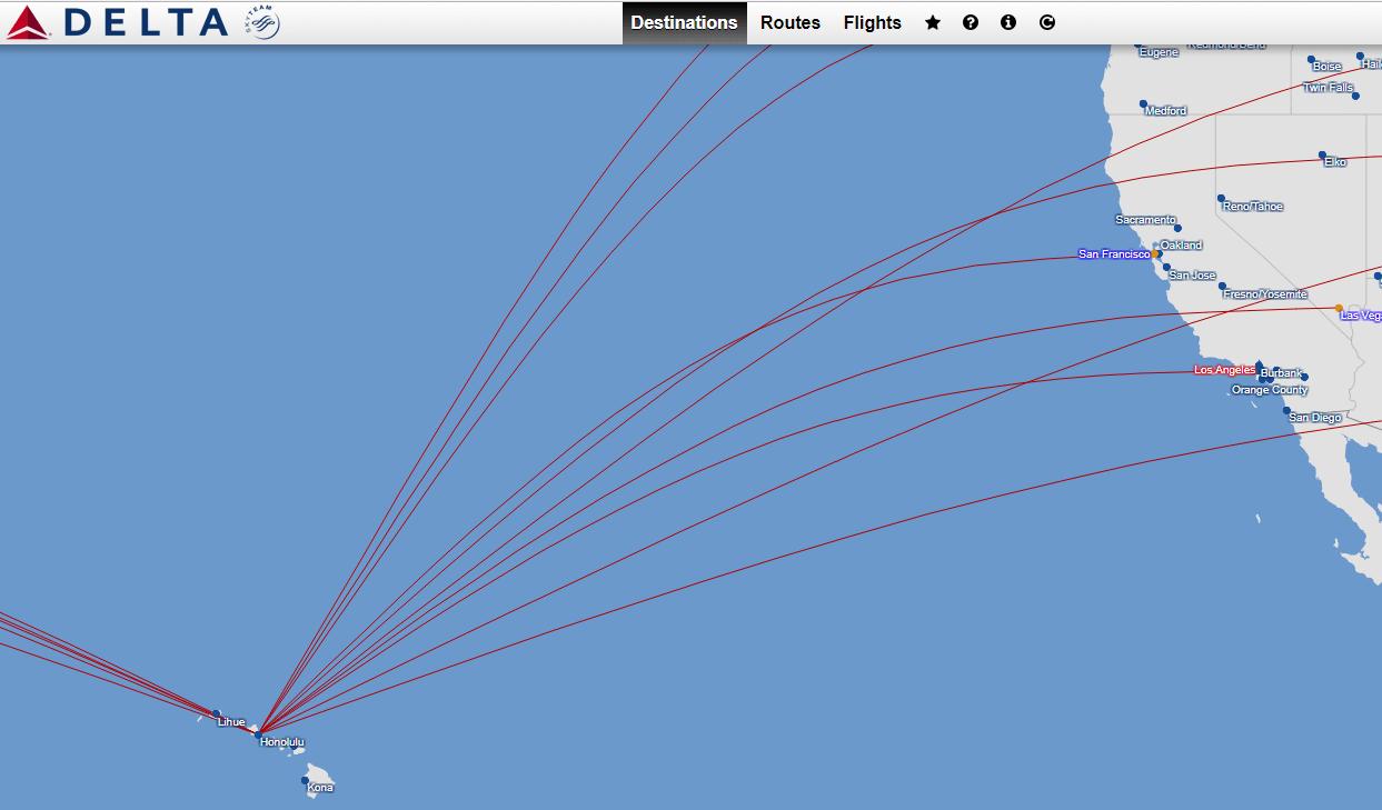 Hawaii Delta Destinations Map • Simple Meets Adventure