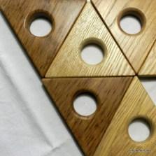Coquetiers ou dessous de plats en bois aimanté