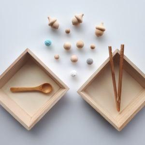 Plateaux de transferts - triage Montessori