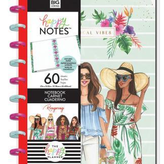 Happy Notes Quadrillé à points - Tropical Vibes