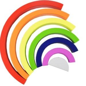 Arc-en-ciel en bois 7 couleurs