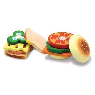 Hamburger et Sandwich en bois