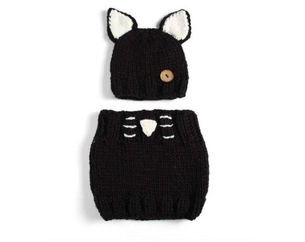 Ensemble d'hiver - Chat noir