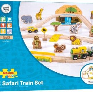 Circuit de train en bois pour un safari