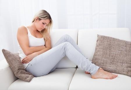 Woman sick stomach