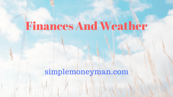 Finances And Weather simple money man