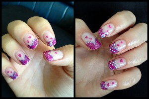 Justine Pink Purple Valentine Nail Art 300x199 Entry Valentines And French