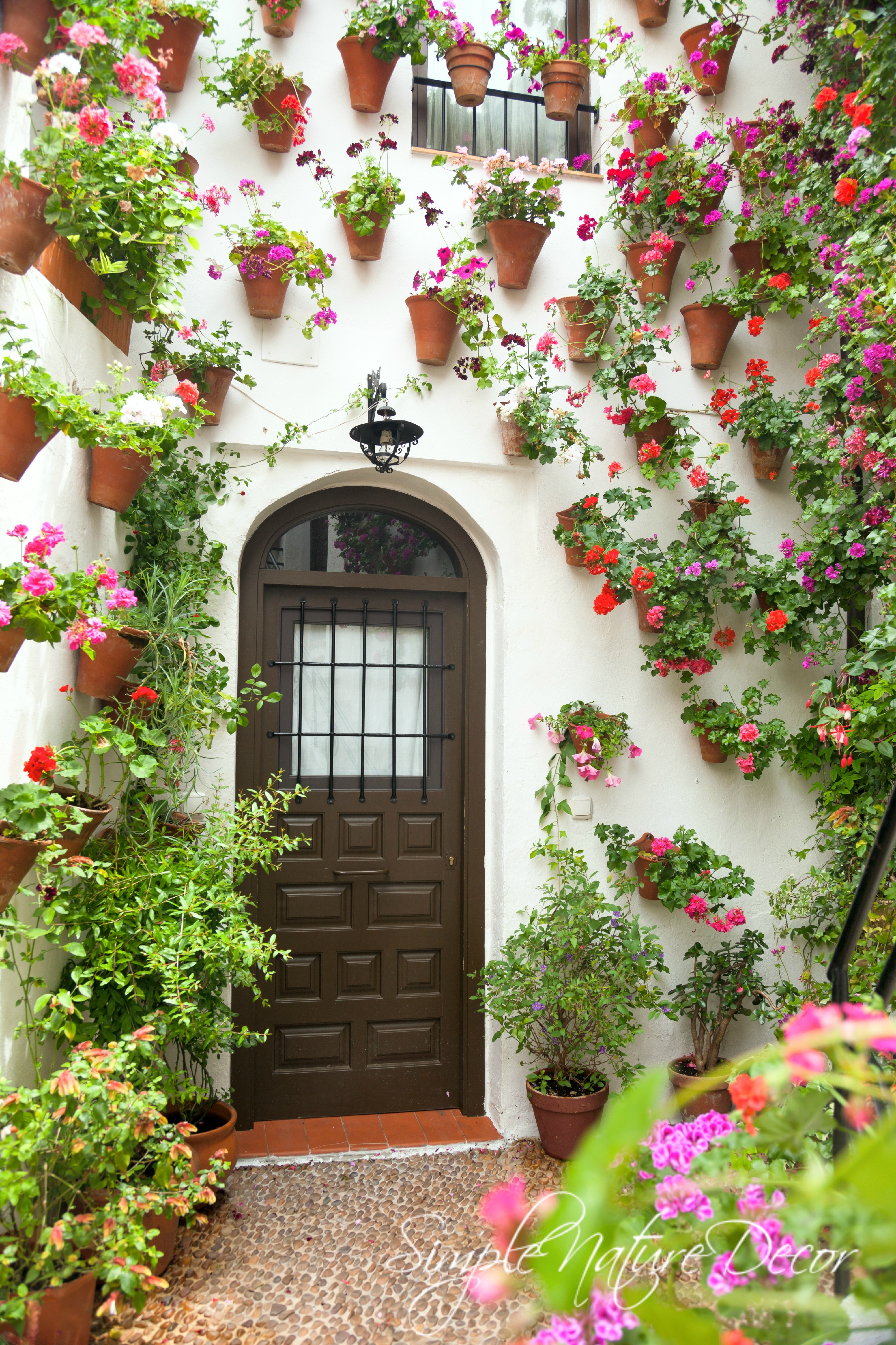 TUSCANY LOOK: HANGING FLOWER POTS - Simple Nature Decor on Hanging Wall Sconces For Flowers id=17108
