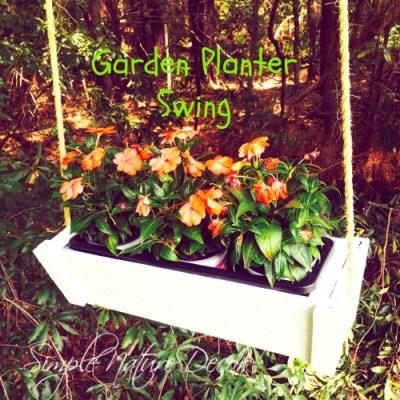 garden planter swing