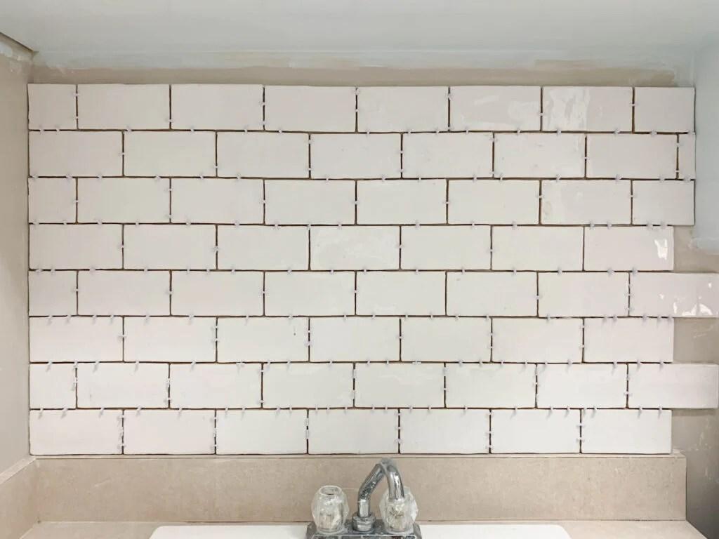 subway tile backsplash tutorial for the