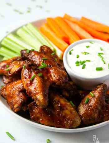SIMPLE Honey Buffalo Wings are a snap to make in the slowcooker!