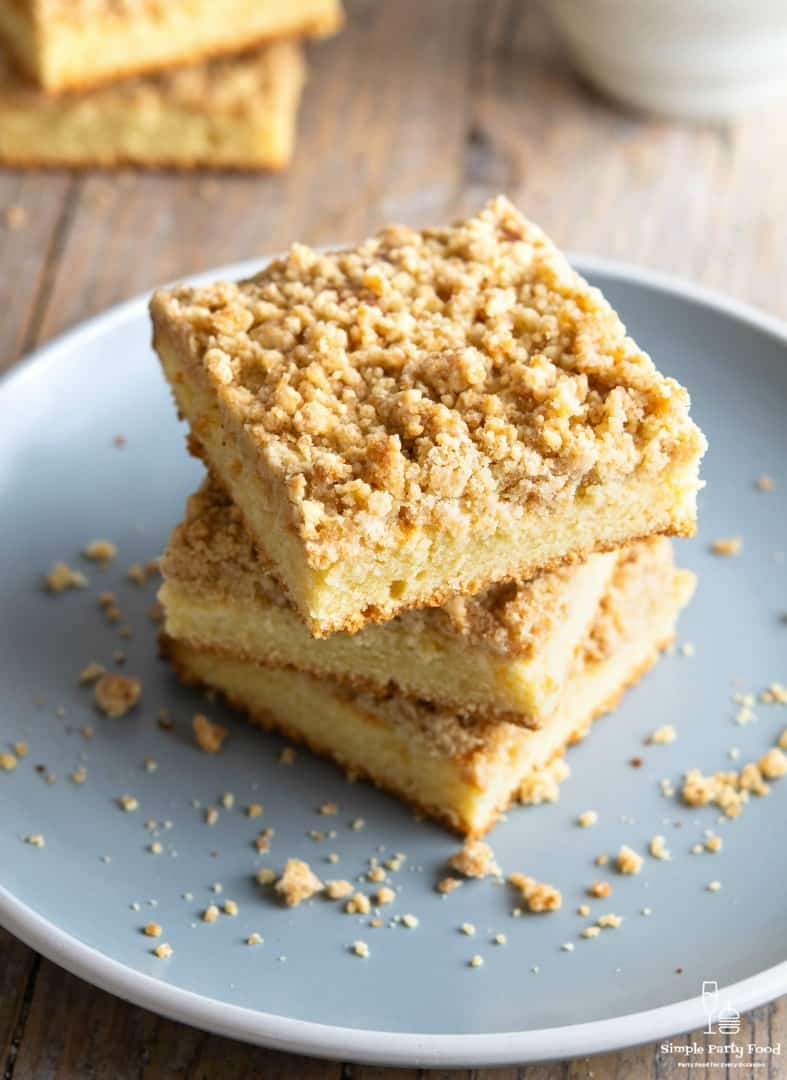 SIMPLE Crumb Cake is a great option for a casual brunch with friends or a morning cup of coffee