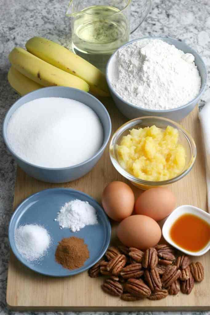 SIMPLE Hummingbird Cake ingredients