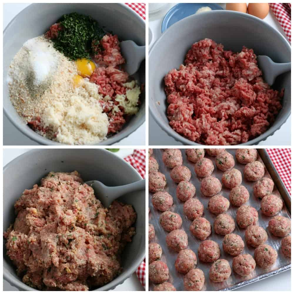 SIMPLE Baked Homemade Meatball Ingredients step by step