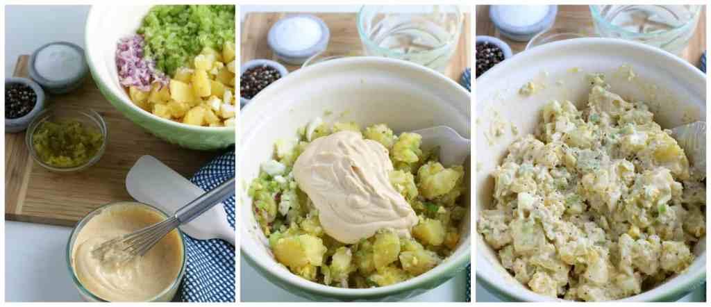 How to make the best SIMPLE Potato Salad recipe #potatosalad #summersides #summerdishes #potatoes #potatorecipes #summersidedishes