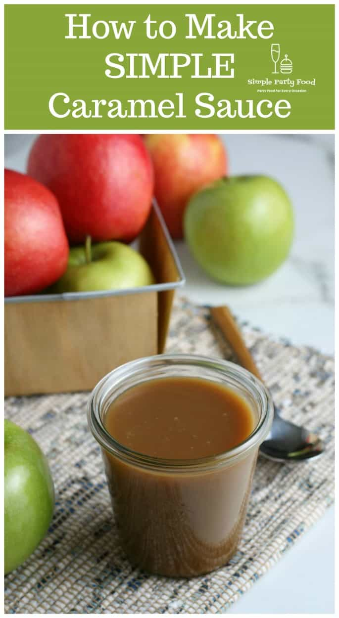 How to make SIMPLE Caramel sauce - gooey, thick, caramelized sugar transforms into delicious caramel sauce #caramel #saltedcaramel #simplepartyfood