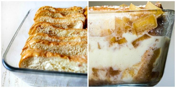 Apple cinnamon baked french toast