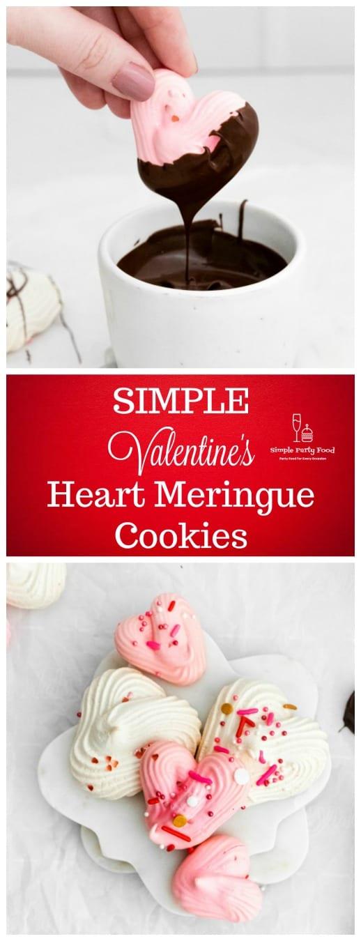 Valentine's Heart Meringue Cookies