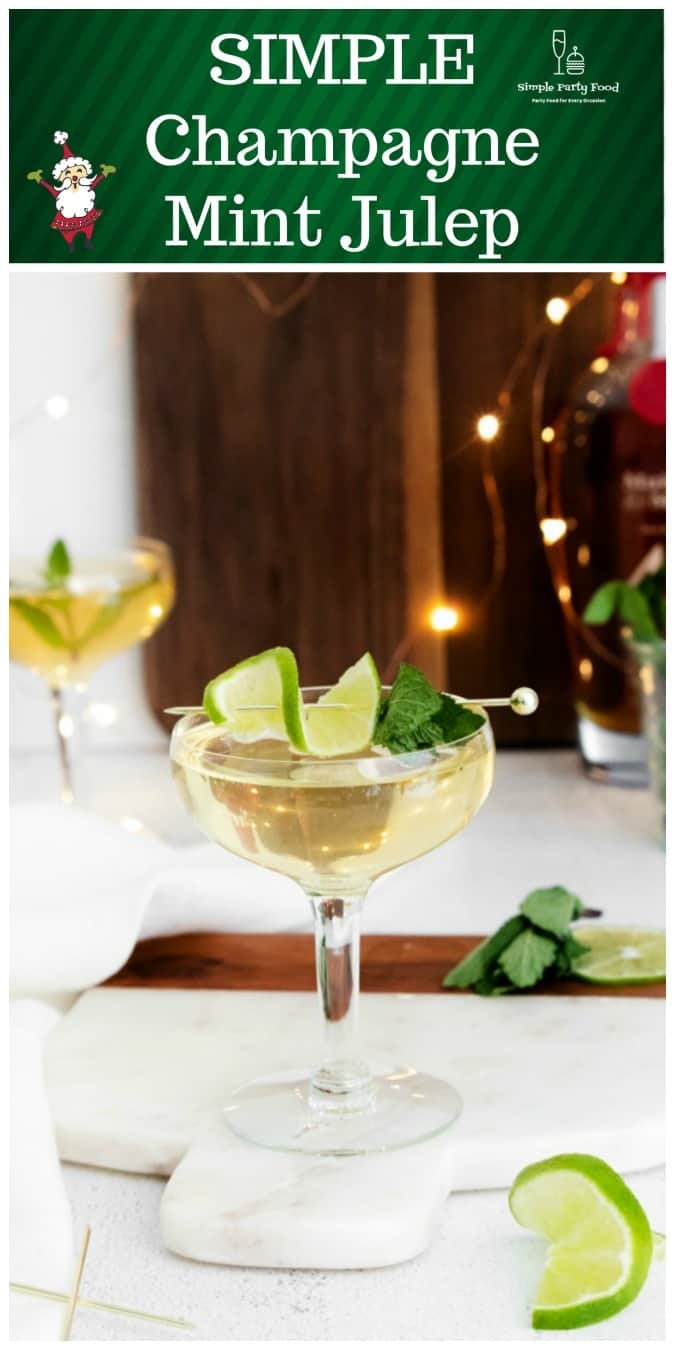 SIMPLE Champagne Mint Julep is a match made in heaven #newyearscocktails #mintjulep #holidaydrinks -