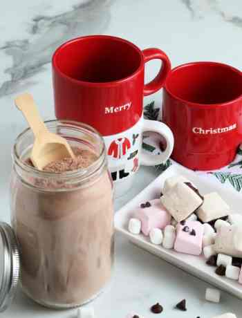 SIMPLE Homemade hot cocoa mix for a hot cup of chocolate anytime #simplepartyfood