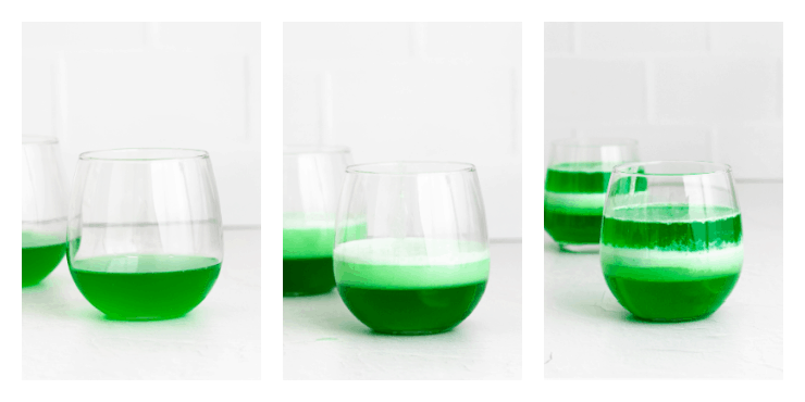 How to make layered green jello cups for St. Patrick's Day