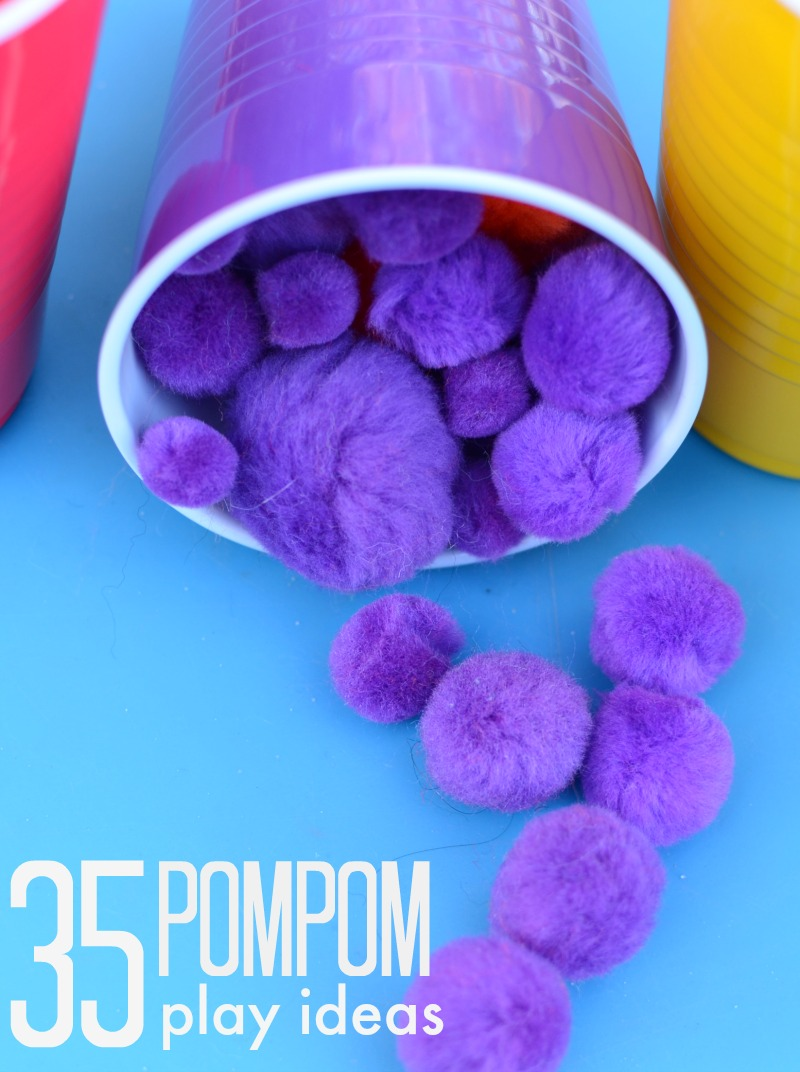 35 ways to play with pompoms!