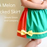 A Melon Blocked Skirt