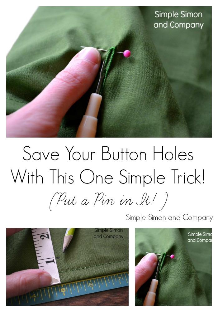 Button Hole Trick