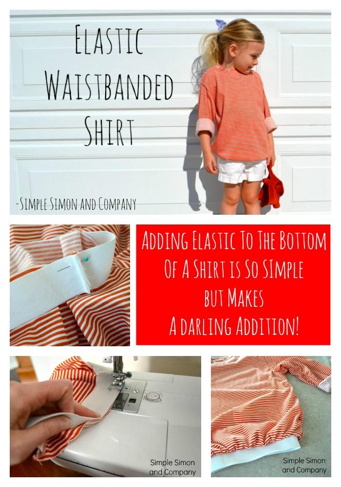 Elastic Waistband Shirt Collage