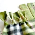 A No-Sew Polar Fleece Blanket Tutorial