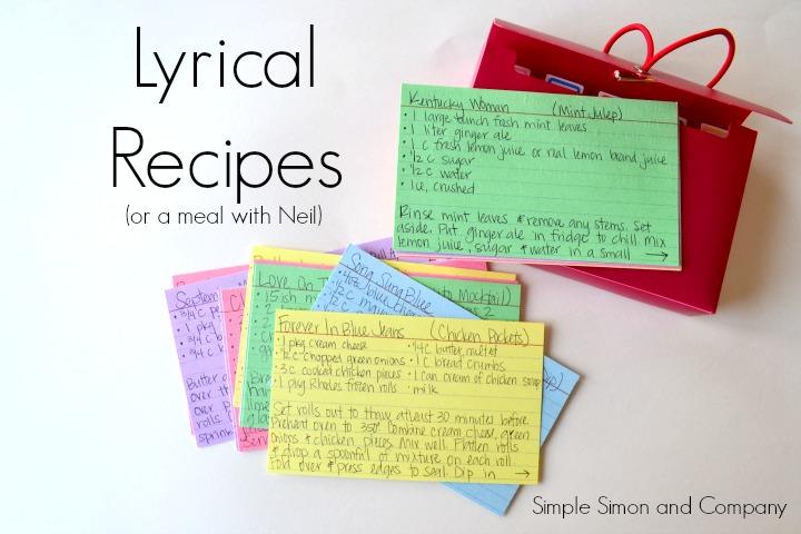 Neil Diamond Recipes