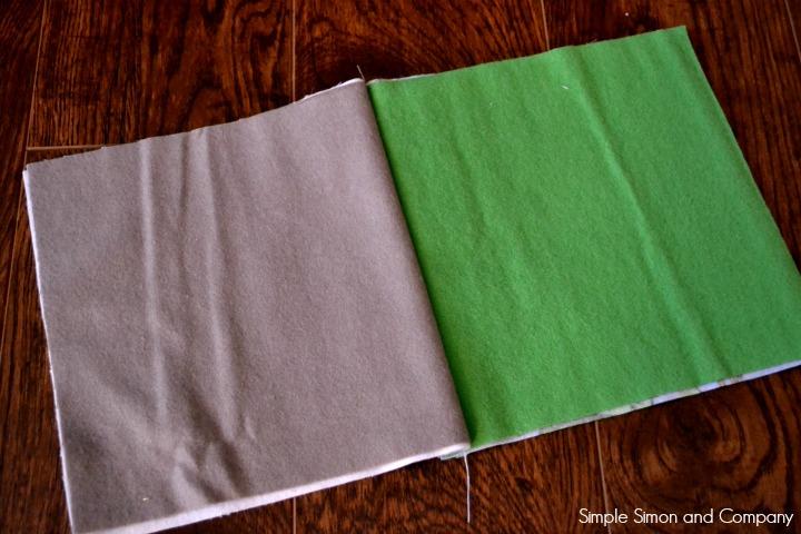 Rag Square Baby Blanket Tutorial Step 4