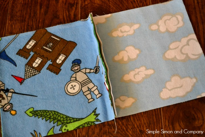 Rag Square Baby Blanket step 3