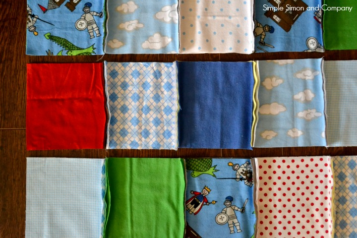 Rag Square Baby Quilt Step 5