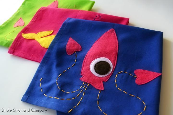 Squid Towels all three