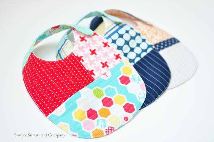 quilt as you go handmade bibs