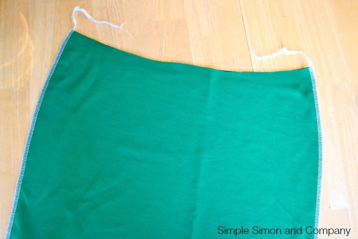 Knit Pencil Skirt Tutorial Step 6