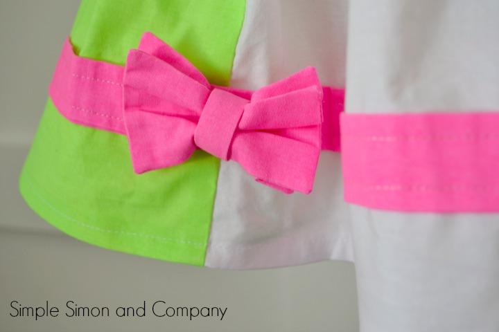 Color Block Skirt Tutorial Detail