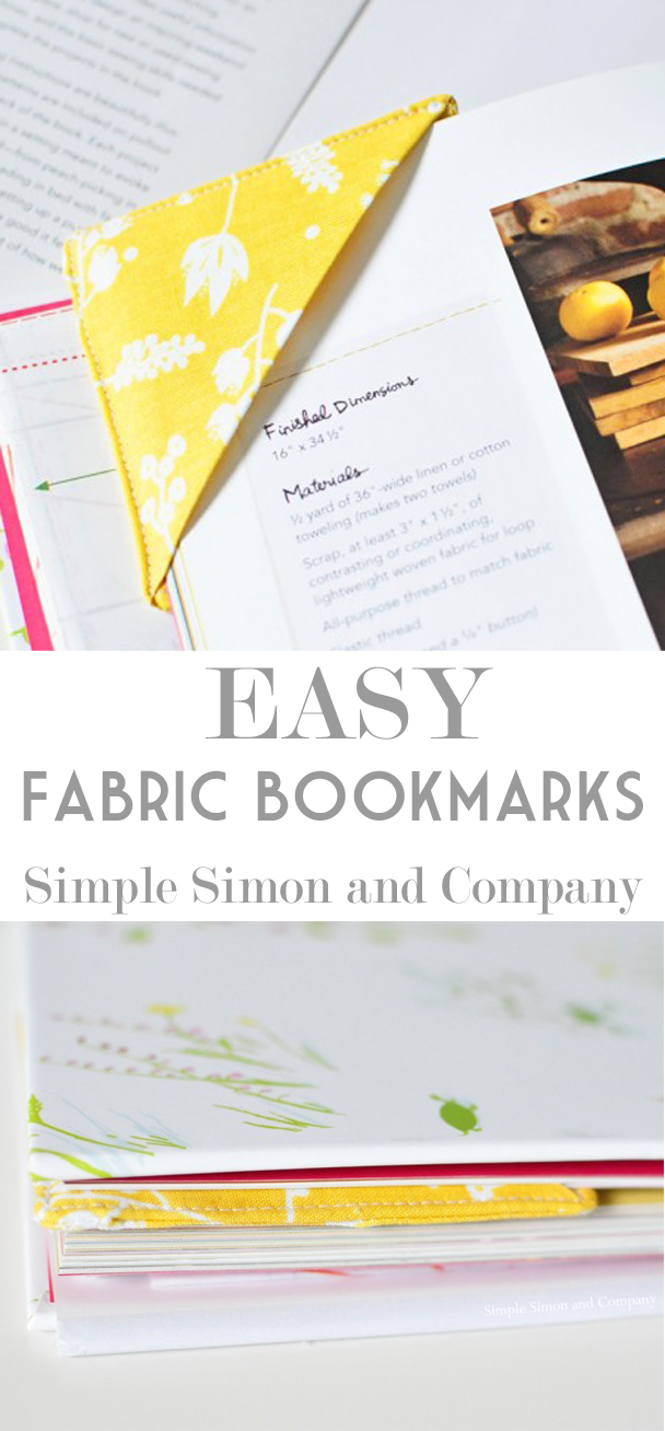 easy fabric bookmarks pinterest