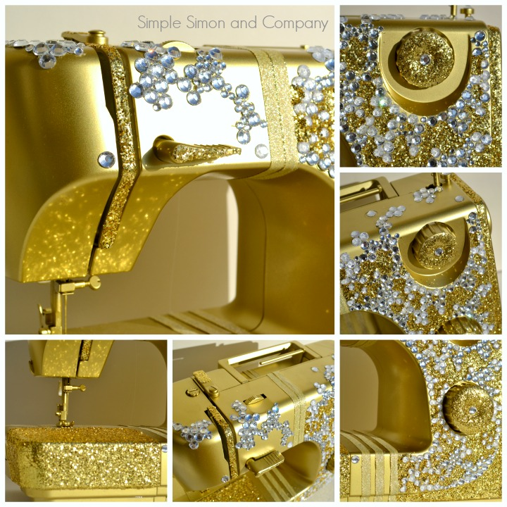 gold bling sewing machine