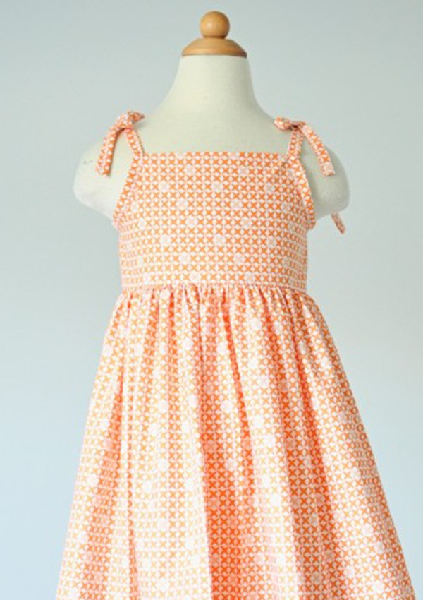 A free sundress pattern.  In Orange.
