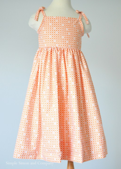 Free Sundress pattern end shot