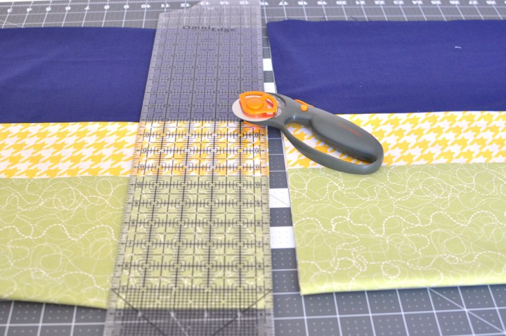 cut quilt top