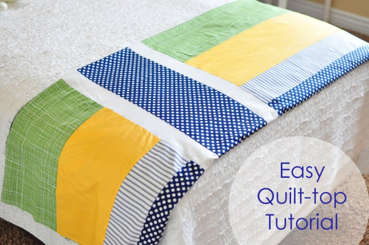 easy quilt top tutorial