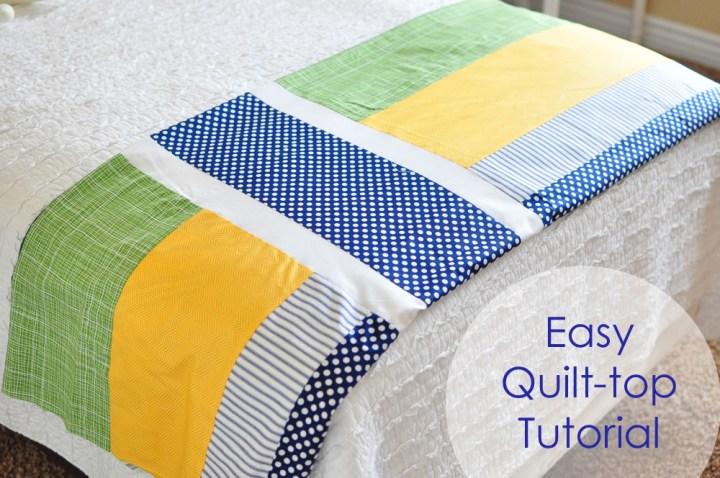 easy quilt top tutorial