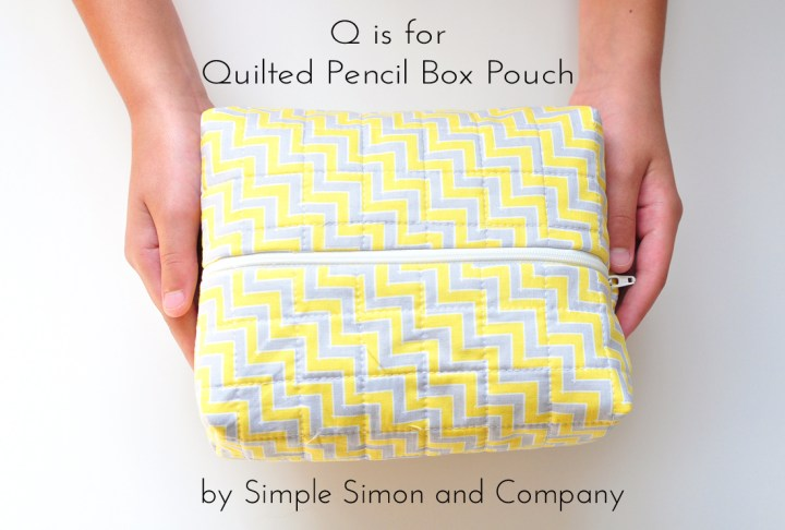 quilted pencil box pouch tutorial