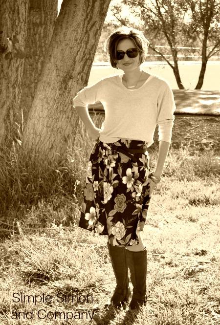 Pleated Skirt JoAnns Sepia