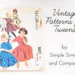 Using Vintage Patterns for Tweens