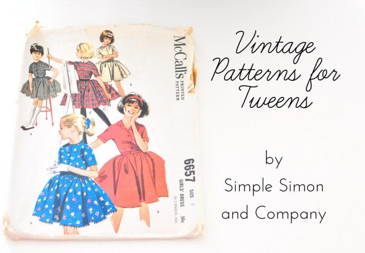 vintage patterns for tweens
